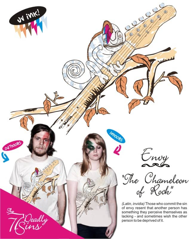 Envy - The Chameleon of Rock by rodrigobhz on Threadless