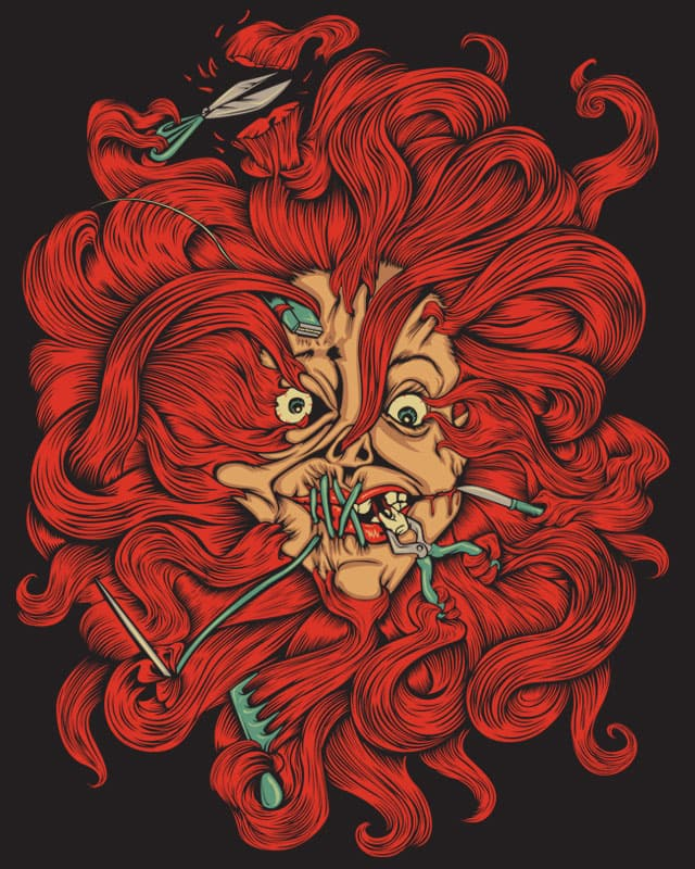 A very, scary bad hair day! by KDLIG on Threadless