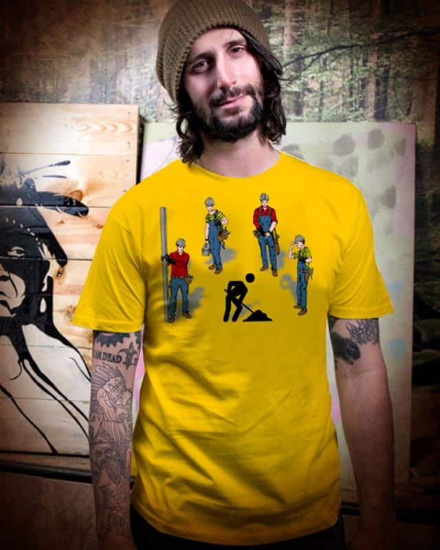 Man at work by kooky love on Threadless