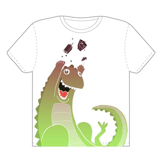 Godzilla loves Mayhem! by queenmob on Threadless