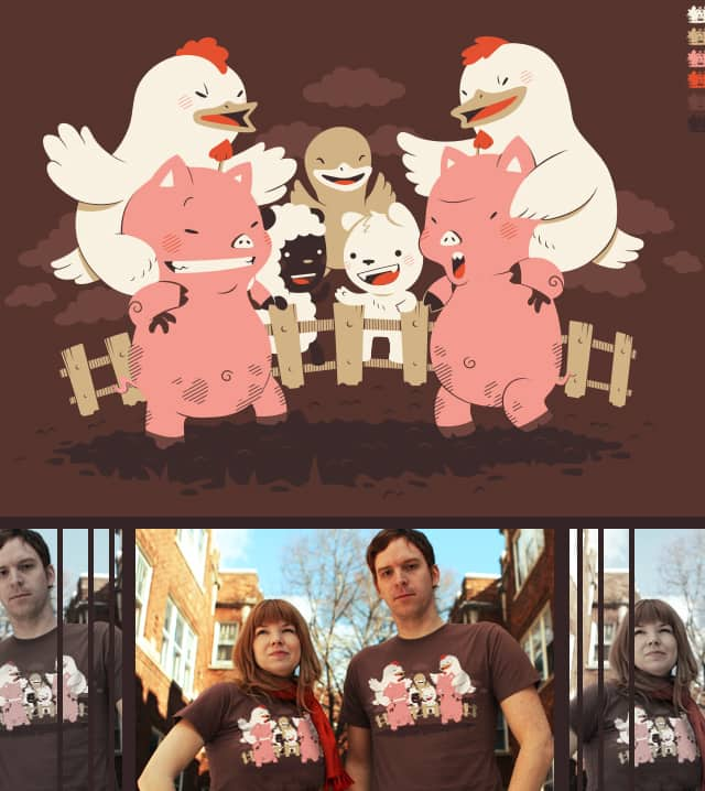 Piggybacks & Chicken Fights by FRICKINAWESOME on Threadless