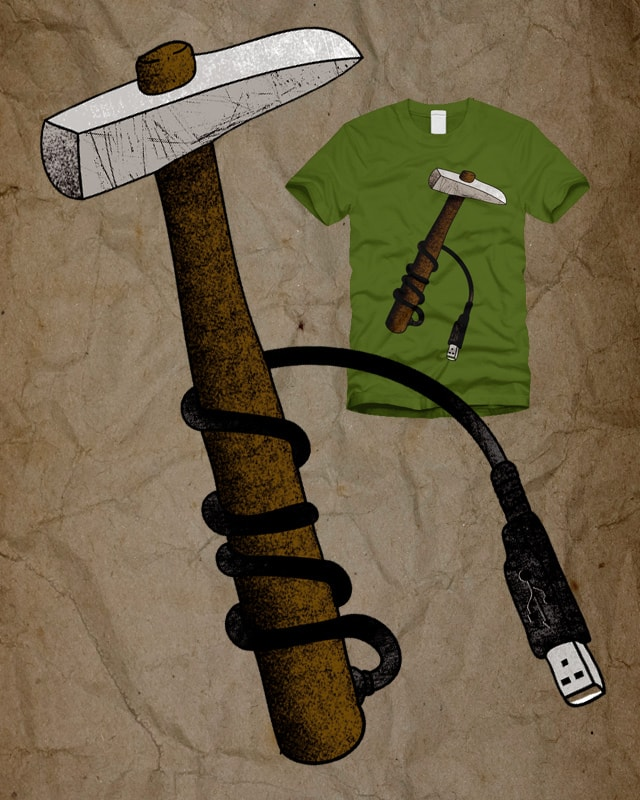 USB hammer by sustici on Threadless