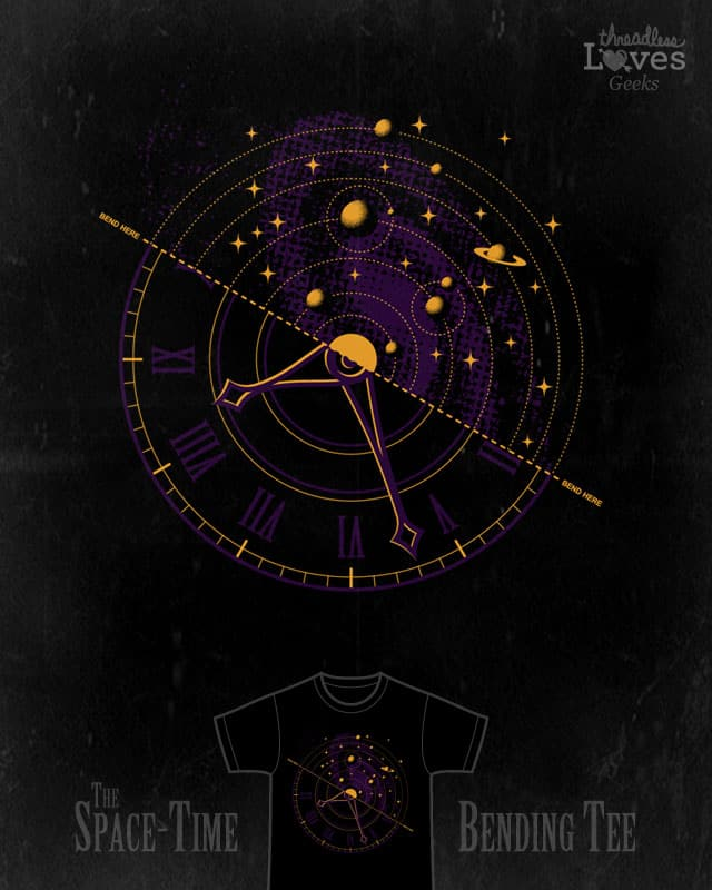 The Space-Time Bending Tee by belekas on Threadless