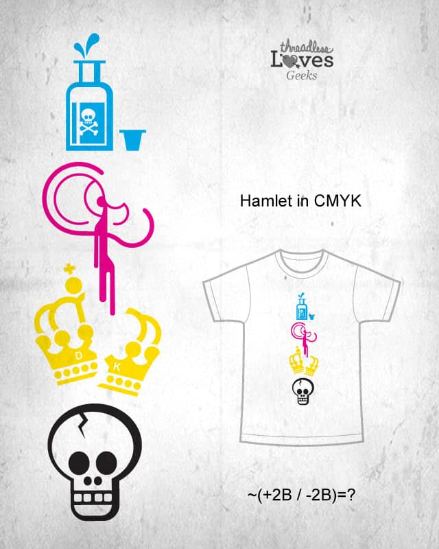 Hamlet in CMYK by belekas on Threadless