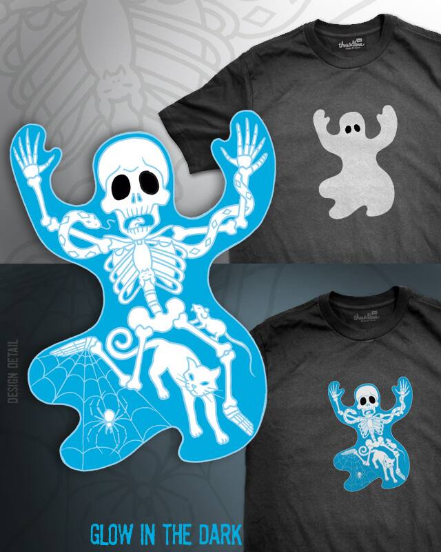 Ghosted Skeleton by pjbrick7 on Threadless