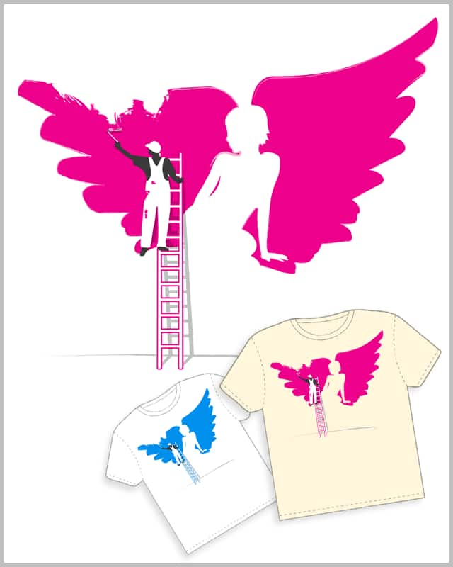 The Angel Painter by beOrangeDesign on Threadless