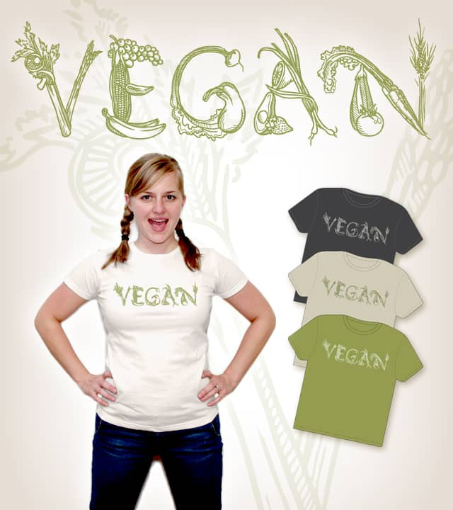 Vegan! by chanco20 on Threadless
