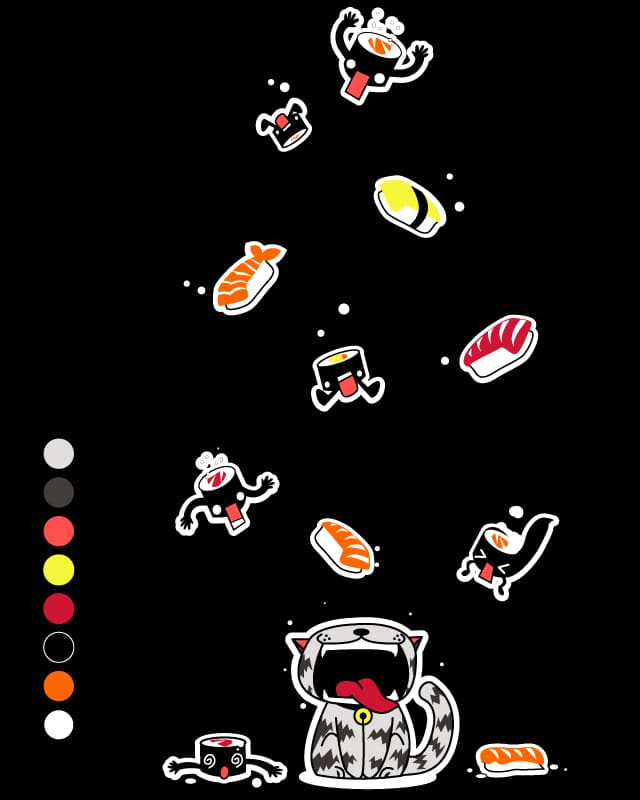 The Sushi Cat by SaMtRoNiKa on Threadless