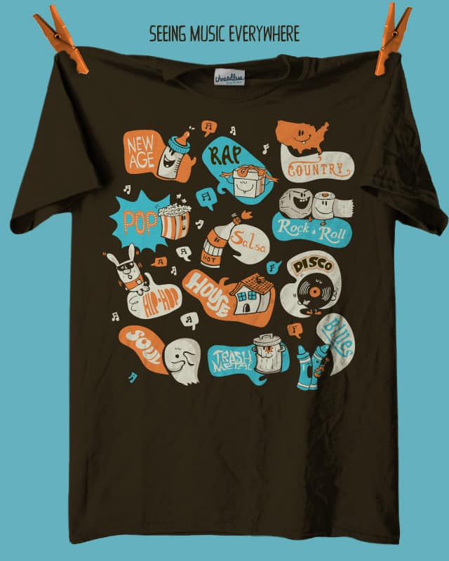 Seeing Music Everywhere by walmazan on Threadless