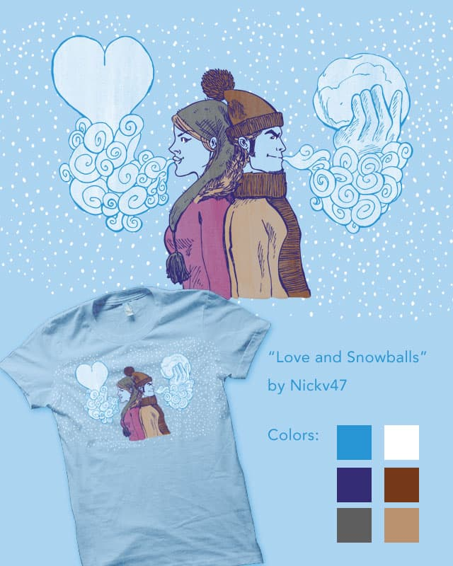 Love and Snowballs by nickv47 on Threadless