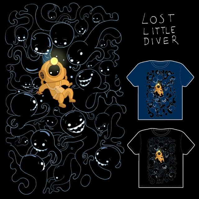 Lost Little Diver by queenmob on Threadless
