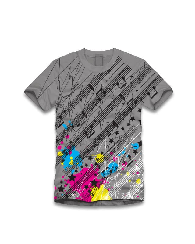 Music & Colors! by charlieangel on Threadless