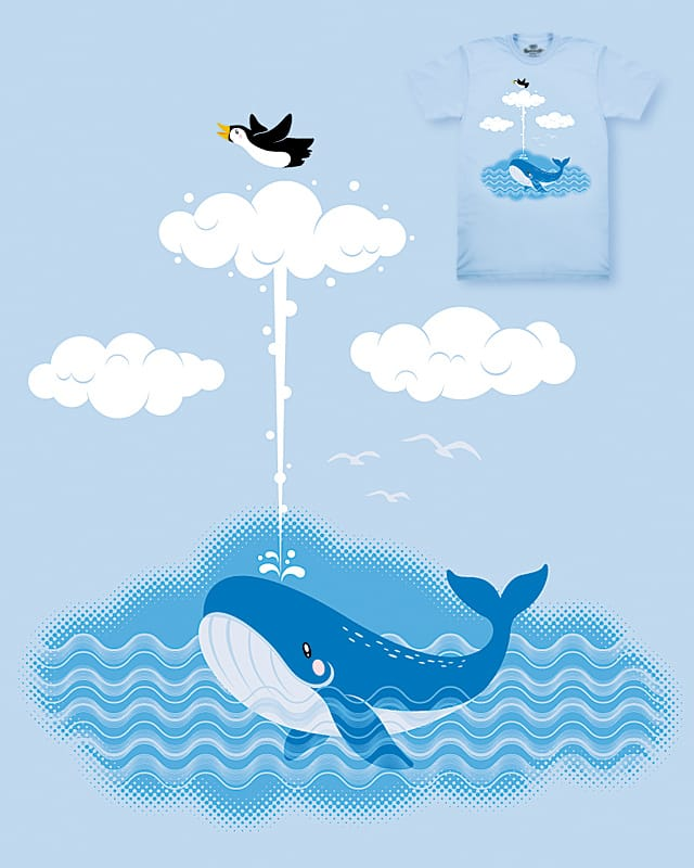 Thanks Mr.Whale, I'm flying! by lawrence loh on Threadless
