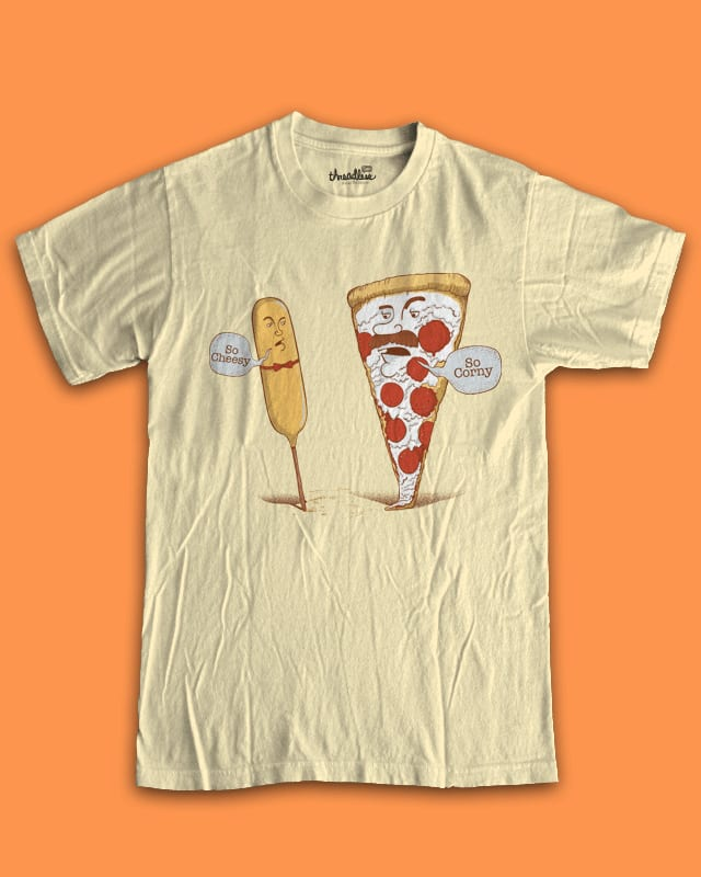 Cheesy & Corny by TOSOMB on Threadless