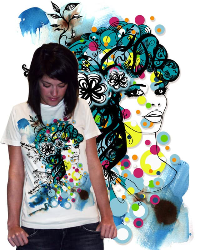 colorful lady by nirmak on Threadless