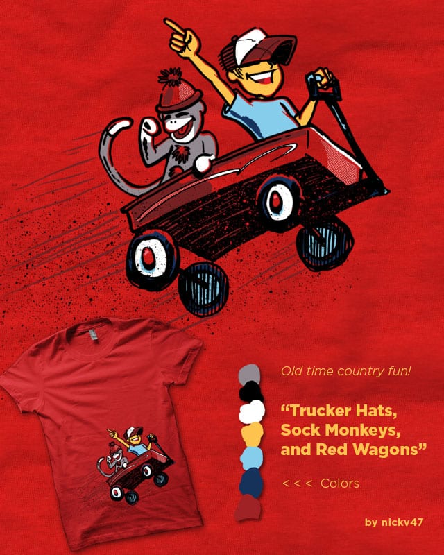 Trucker Hats, Sock Monkeys, and Red Wagons by nickv47 on Threadless