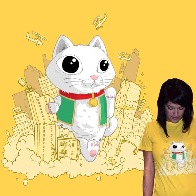 Cute kitty attacks! by queenmob on Threadless