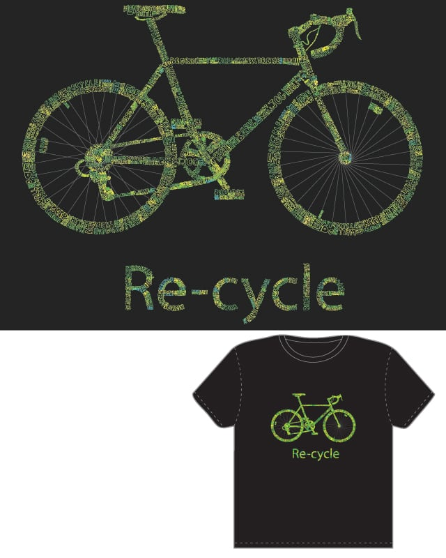 Re-Cycle by toddthehead on Threadless