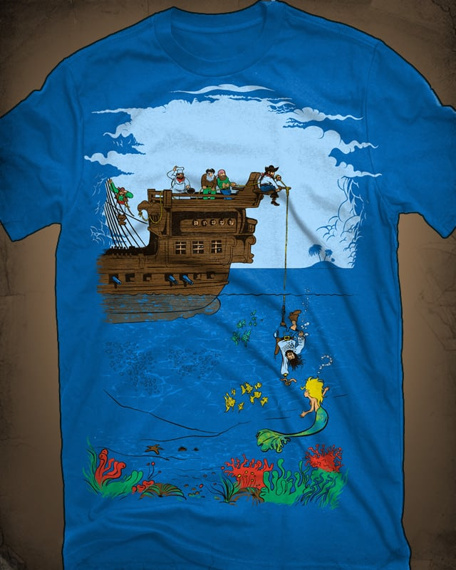 Captain Hook, Line & Sinker by FRICKINAWESOME on Threadless