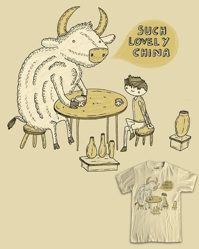 Bull in a china shop by randyotter3000 on Threadless