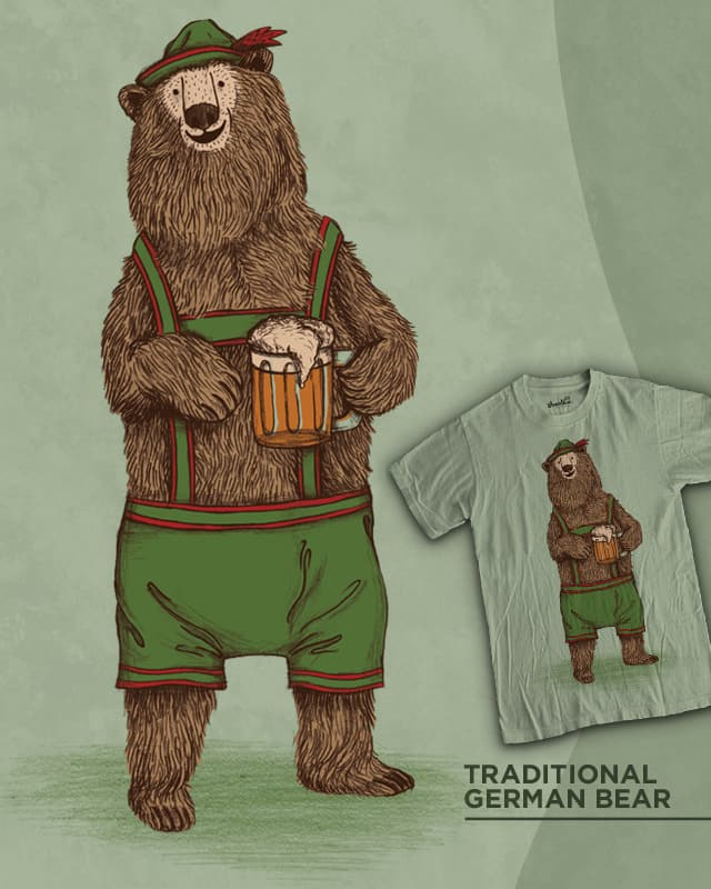 Traditional German Bear by WanderingBert on Threadless