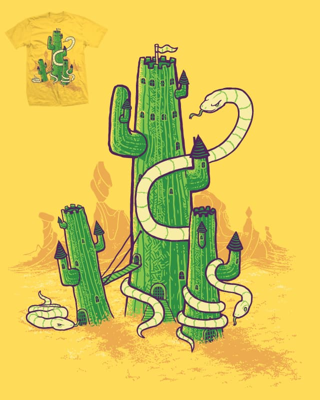 Castle Cactii and the Desert Dragons by Demented on Threadless