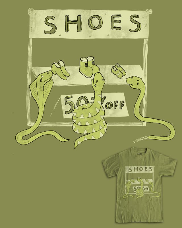 such sad snakes at the shoe sale by randyotter3000 on Threadless