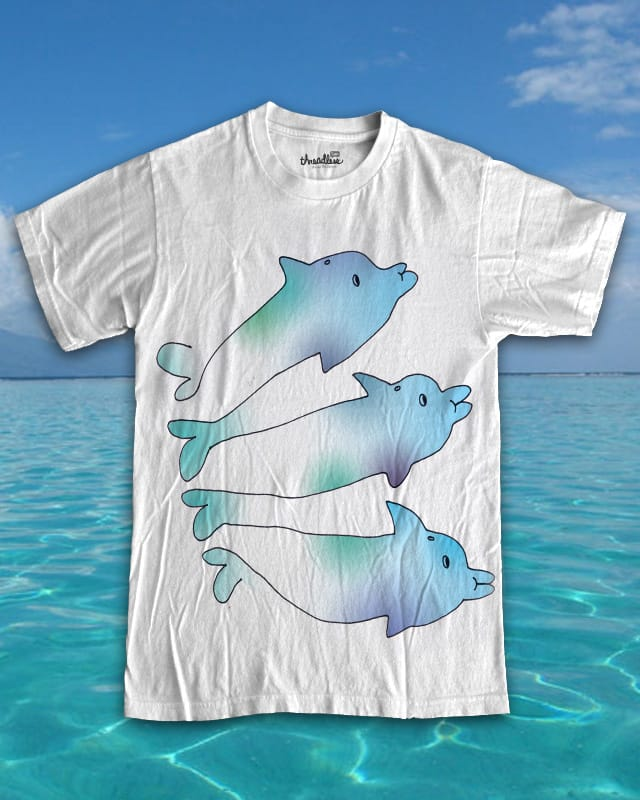 dolphuns by ginetteginette on Threadless