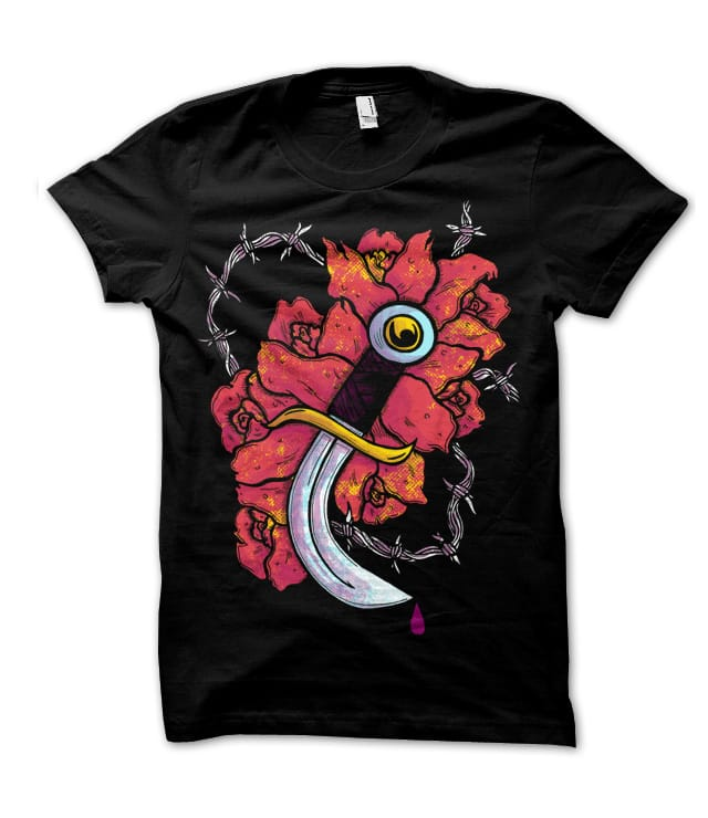 Knife & Roses by atomicchild on Threadless