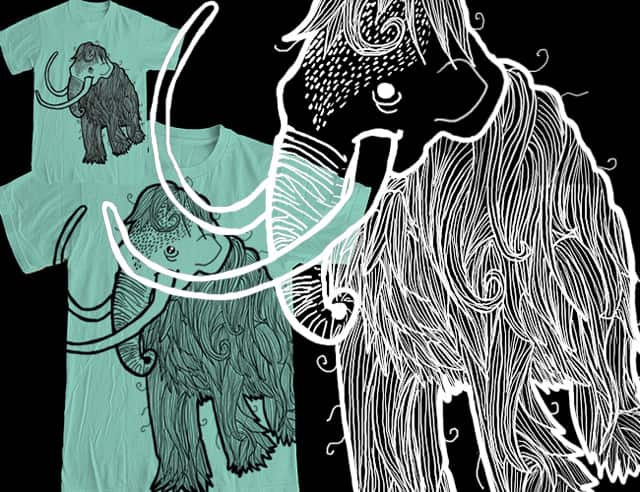Hairy Mammoth by pindian on Threadless