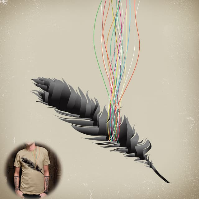 Deep Inside the Feather by TangYauHoong on Threadless