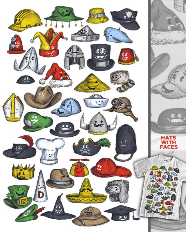 Hats with Faces by WanderingBert on Threadless