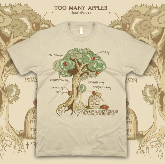 Too Many Apples by BootsBoots on Threadless