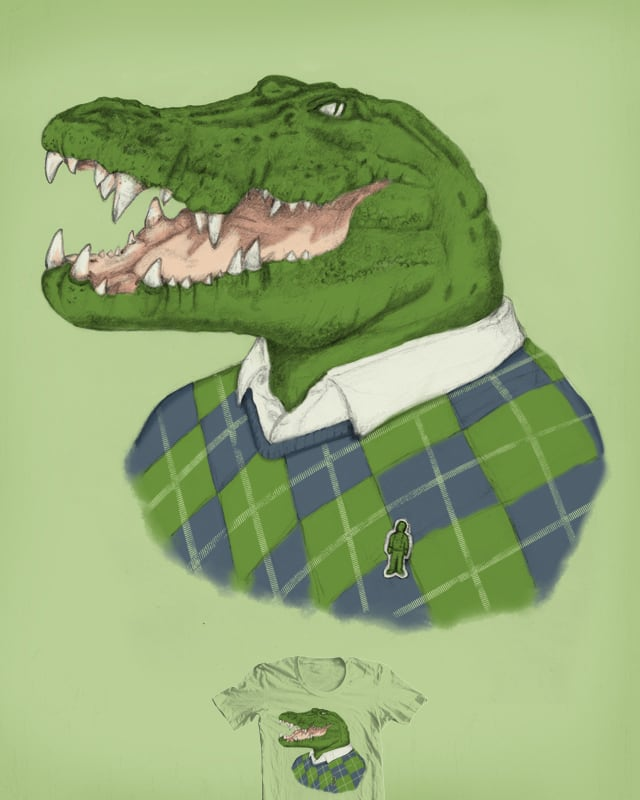 Argyle Crocodile by murraymullet on Threadless