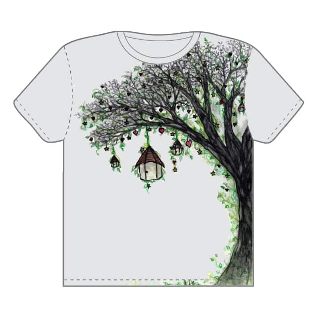 Tree, stars, hearts by Daniel_Micon on Threadless