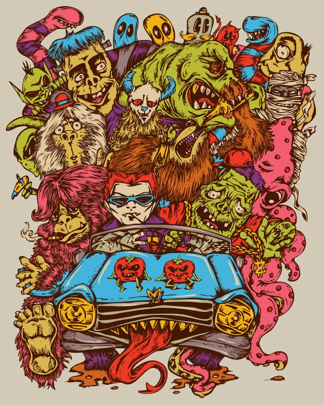 Monsterrific Ride by KDLIG on Threadless