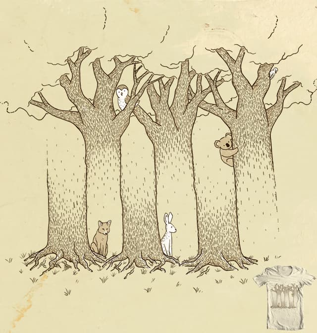 Can't See The Forest For The Trees by Johnny Baboon on Threadless