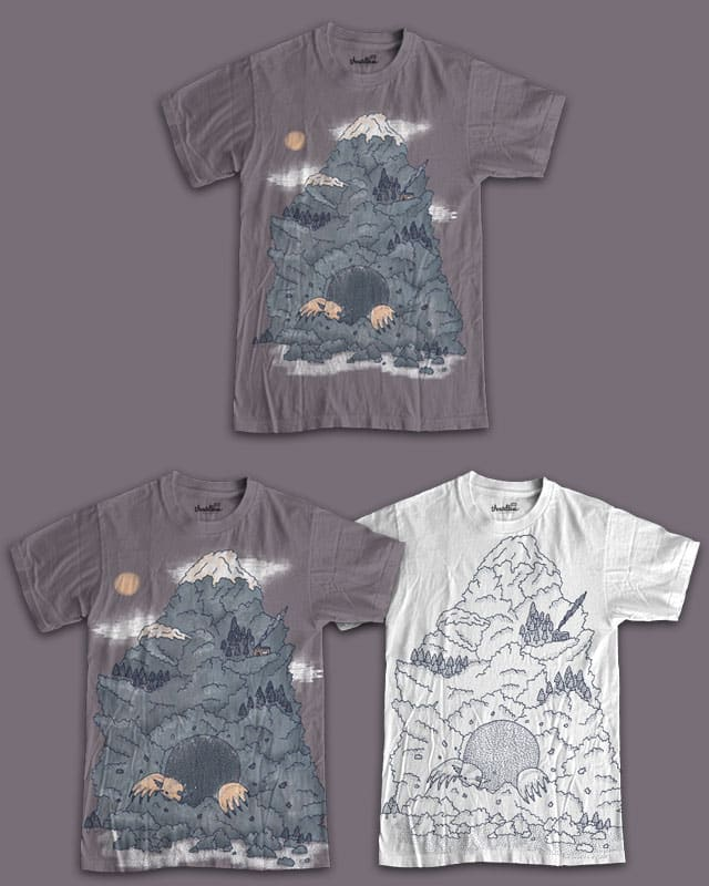 Making a molehill out of a mountain by randyotter3000 on Threadless