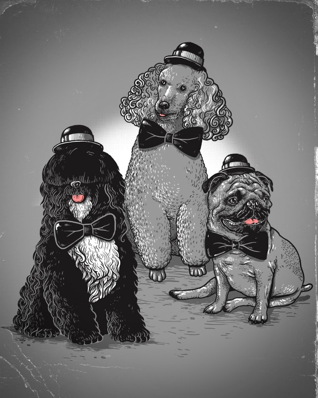 The Three Pooches by alexmdc on Threadless
