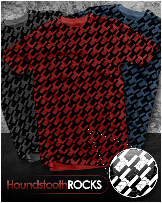 Houndstooth ROCKS by beOrangeDesign on Threadless