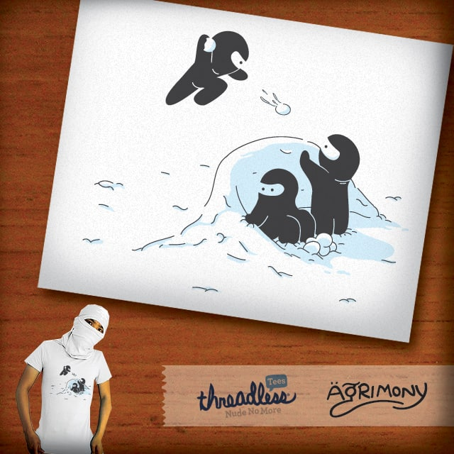 Ninjas do not camouflage well in winter by agrimony on Threadless