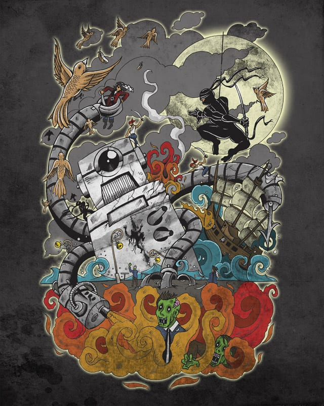 Robots-VS-Zombies-VS-Pirates-VS-Ninja........and s by mark722 on Threadless
