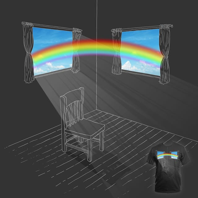Rainbow Across the Room by TangYauHoong on Threadless