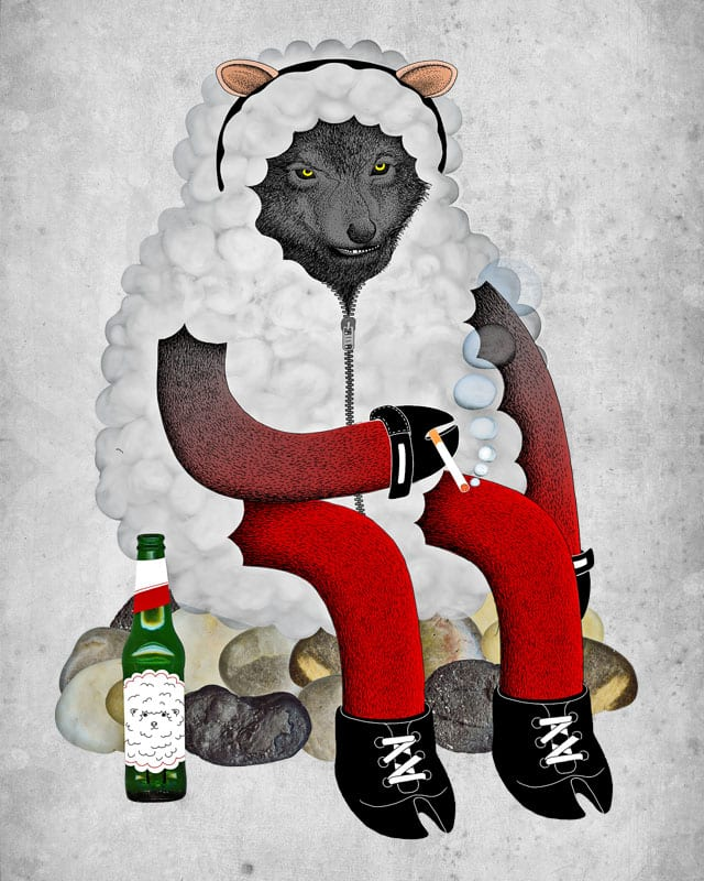 wolf in sheep's clothing by Andreas Mohacsy on Threadless