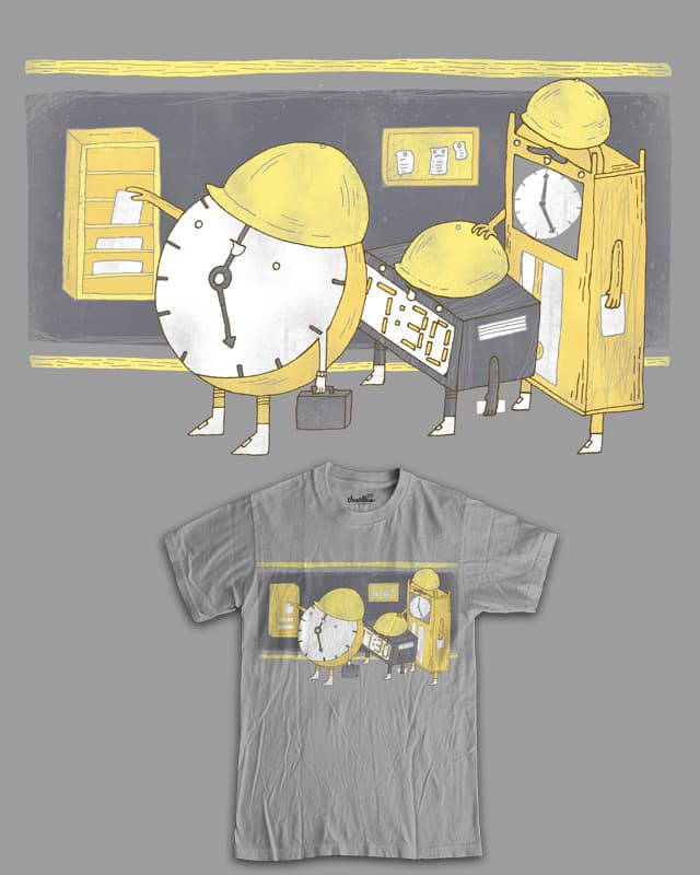 Clocks clocking out like clockwork at work by randyotter3000 on Threadless