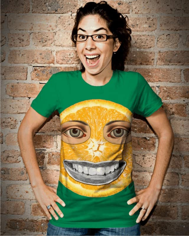 smiling orange by edgarscratch on Threadless