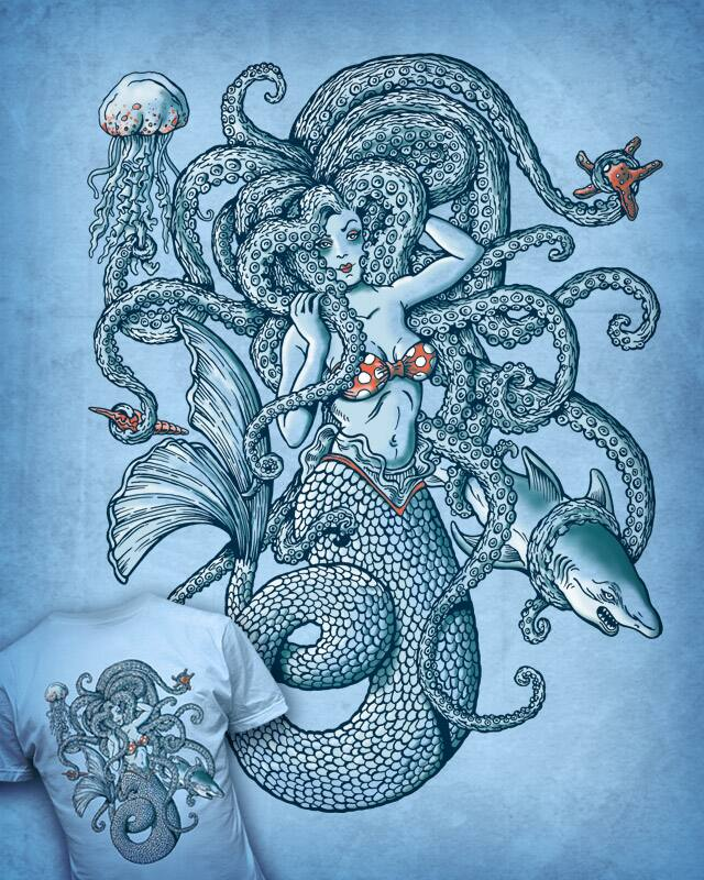 sweet little mermaid by badbasilisk on Threadless