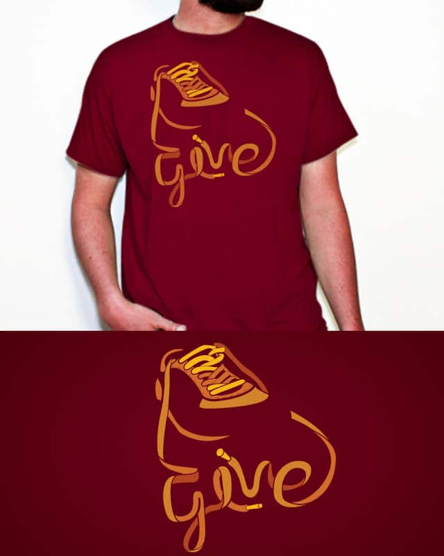 Give Yours by projecTank on Threadless