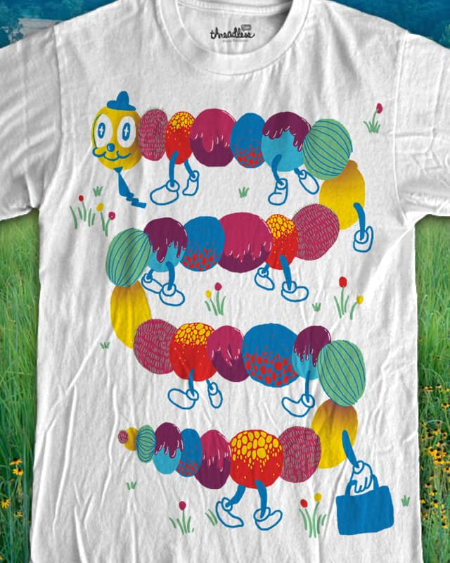 mr. caterpillar goes to town by ginetteginette on Threadless