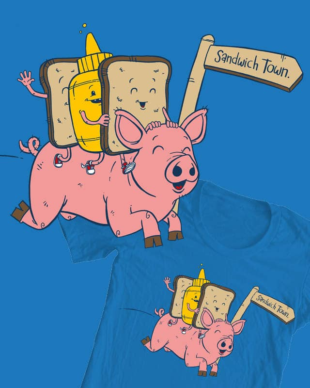 Sandwich Town! by stayteoftheart on Threadless
